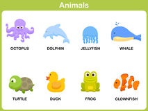 Ensemble mignon de vecteur d'animal pour des enfants Image libre de droits