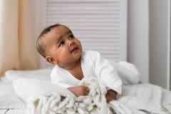 Ensemble mignon de vecteur de bébé garçon d'Afro-américain Photos libres de droits