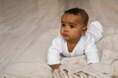 Ensemble mignon de vecteur de bébé garçon d'Afro-américain Photo libre de droits