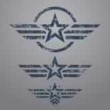 Ensemble militaire d'emblème de style Photographie stock