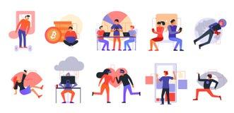 Ensemble moderne d'icônes de technologies illustration libre de droits