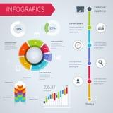 Ensemble moderne d'infographics illustration de vecteur