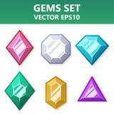 Ensemble moderne de gemmes colorées pour le site Web ou l'application mobile Éléments lumineux et élégants pour vous conception Image stock