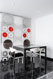 Ensemble moderne de table de salle à manger Images libres de droits