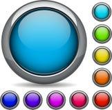ensemble moderne du bouton 3d Images stock