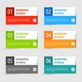Ensemble moderne simple de bannière d'options d'infographics Images libres de droits