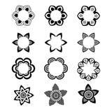 Ensemble monochromatique géométrique de calibre de logo et d'icône illustration stock