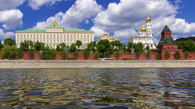 Ensemble of Moscow Kremlin view from the Kremlin embankment, Rus Stock Image