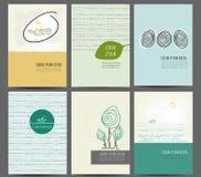 Ensemble multicolore de fond de vecteur créatif abstrait de concept, pour la conception de brochure Photos libres de droits