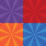 Ensemble multicolore de vecteur de milieux avec la fleur Image libre de droits