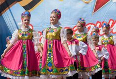 Ensemble of national dance Russia Royalty Free Stock Photos