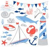 Ensemble nautique Image stock