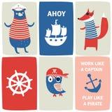 Ensemble nautique illustration libre de droits