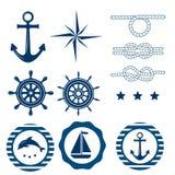 Ensemble nautique de décoration Photographie stock libre de droits