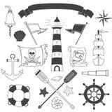 Ensemble nautique et de mer Images libres de droits
