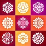 Ensemble neuf du vecteur Mandala Ornaments Illustration Photographie stock