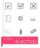 Ensemble noir d'icône d'élection de vecteur Photographie stock libre de droits