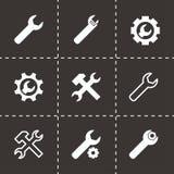 Ensemble noir d'icône de clé d'arrangements de vecteur Image libre de droits