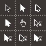 Ensemble noir d'icône de curseur de vecteur Photos libres de droits