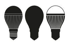 Ensemble noir et blanc d'ampoule d'halogène illustration stock