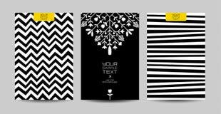 Ensemble noir et blanc de fond Photos stock