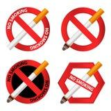 Ensemble non-fumeurs d'icône, style réaliste illustration stock