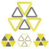 Ensemble nucléaire de conception de vecteur de logo illustration libre de droits