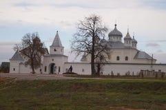 Ensemble Orthodox monastery of St. George in the city of Medows Kaluga region. Stock Photo