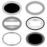 Ensemble ovale de timbre Image stock