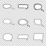 Ensemble parlant de bulle Bulles comiques de la parole de style Images stock