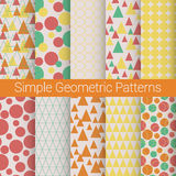 Ensemble patern géométrique simple Image stock