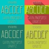 Ensemble plat d'alphabet illustration libre de droits