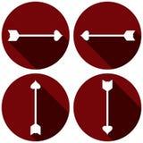Ensemble plat d'icône de flèches pour le jour de valentines illustration libre de droits