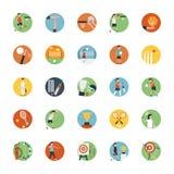 Ensemble plat d'icône d'icône de sports illustration stock