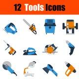 Ensemble plat d'icône d'outils de conception illustration stock