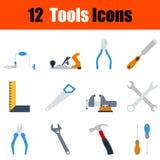 Ensemble plat d'icône d'outils de conception illustration libre de droits