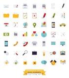 Ensemble plat d'icône de conception d'affaires et de bureau illustration stock