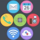 Ensemble plat d'icône de technologie de l'information Photo stock