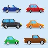 Ensemble plat d'icône de vecteur de véhicules modernes Image stock