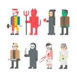 Ensemble plat de costume de Halloween de conception Photo stock
