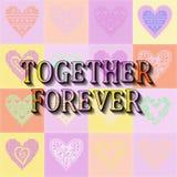 Ensemble pour toujours Texte romantique Images libres de droits
