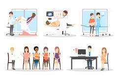 Ensemble prénatal de clinique illustration de vecteur