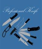 Ensemble professionnel de couteau Photographie stock