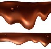 Ensemble réaliste d'égouttement de chocolat illustration stock