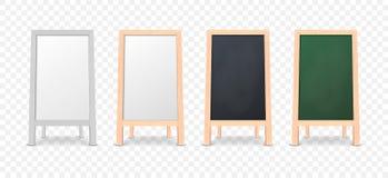 Ensemble réaliste d'icône de conseil d'annonce de menu d'isolement sur le fond transparent illustration de vecteur