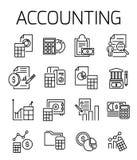 Ensemble relatif de comptabilité d'icône de vecteur illustration de vecteur