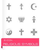 Ensemble religieux d'icône de symboles de vecteur Image libre de droits