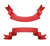 ensemble rouge d'étiquette du ruban 3d, élément de conception Photographie stock