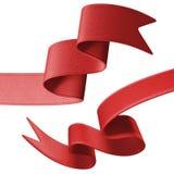 ensemble rouge d'étiquette du ruban 3d, élément de conception Photo stock