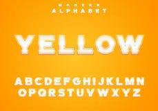 Ensemble royal de caractères, lettres faciles à utiliser dans le style moderne riche avec la course lumineuse de gradient illustration stock